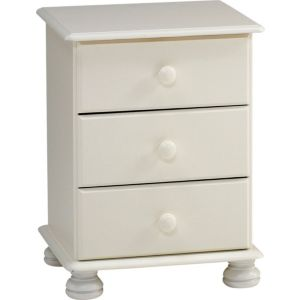 View Malmo White 3 Drawer Chest (H) 581 mm (W) 441 mm details