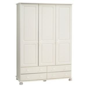 View Malmo White 3 Door 4 Drawer Wardrobe (H) 1.853 M (W) 1.296 M details