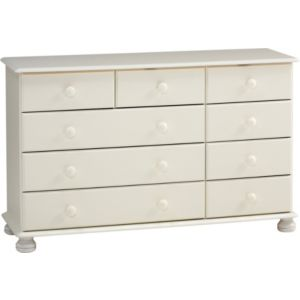 View Malmo White 3 over 6 Drawer Chest details