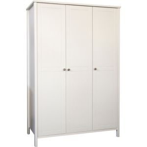 View B&Q Bergen White 3 Door Wardrobe details