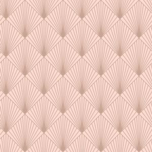 Image of Rasch Deco Pink & Rose gold effect Fan Wallpaper