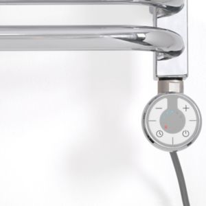 Image of Terma Chrome effect 200W Thermostatic heating element (H)275mm
