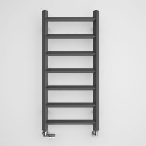 Image of Terma Crystal 247W Modern grey Towel warmer (H)840mm (W)400mm