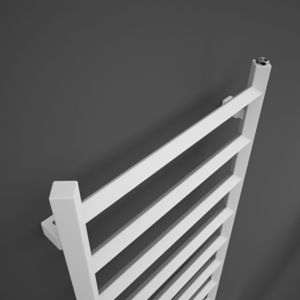 Image of Terma Crystal 411W Electric Soft white Towel warmer (H)1200mm (W)500mm