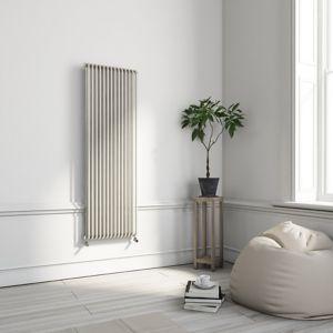 Image of Terma Delfin Vertical Designer radiator Soft White Powder Paint (H)1800 mm (W)500 mm