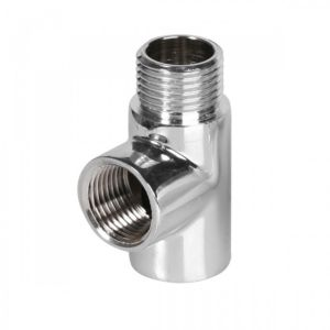 Image of Terma Chrome T Piece 1/2 BSP (H)60mm (W)40mm (D)20mm