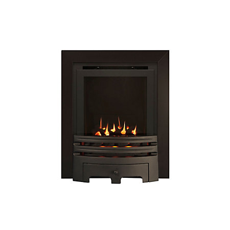 Ignite Westerly Glass Fronted Black Inset High Efficiency