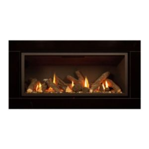 Ignite Pinnacle 860 Black Slide Control Inset Gas Fire