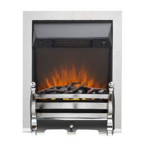 Image of Sirocco Ignite Black Chrome effect Electric fire