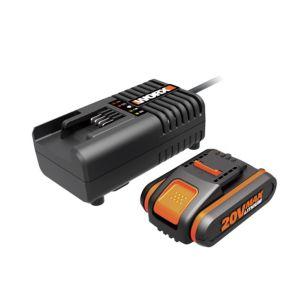 Image of Worx Powershare 20V Li-Ion 2Ah Charger & Battery Kit