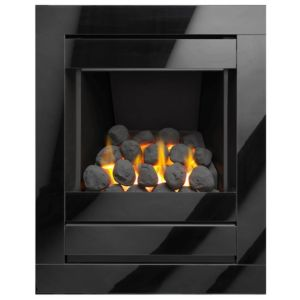 Image of Cristal Black Manual Control Inset Gas Fire