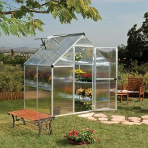 View Mythos 6X4 PG Twinwall Greenhouse details