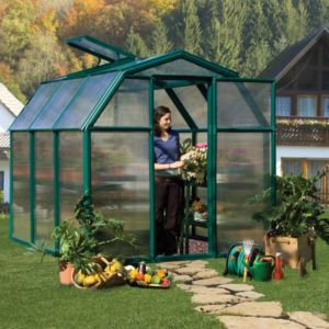 Image of Rion Eco Grow 6x6 Acrylic Barn Greenhouse