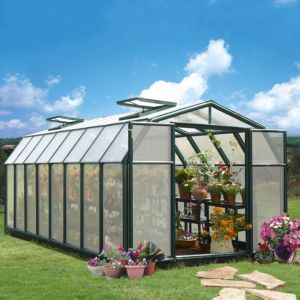 View Green Hobby Gardner 8X16 AG Twinwall Greenhouse details