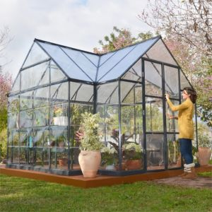 View Dark Grey Victory 12X10 PG Orangery Greenhouse details