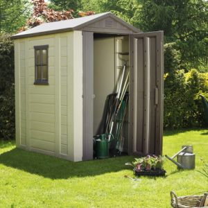View Keter 6X4 Apex Roof Shiplap Plastic Shed - Assembly Required details
