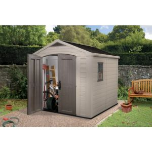 View 8X8 Apex Plastic Shed - Assembly Required details