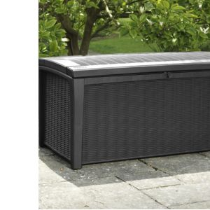 Image of Borneo Rattan effect Plastic Garden storage box