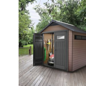 View Fusion 7.5X7.5 Apex Plastic Shed - Assembly Required details