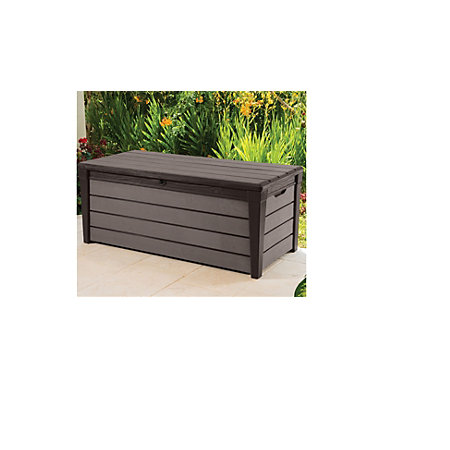 Brushwood Plastic Wood Effect Plastic Garden Storage Box. Brushwood Plastic Wood Effect Plastic Garden Storage Box