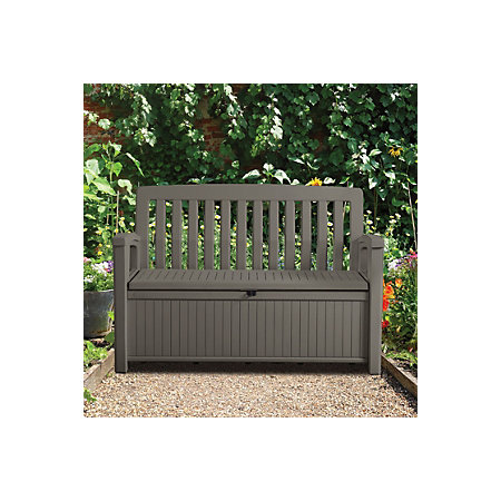 Plastic Garden Storage Bench Box Departments Diy At B Amp Q