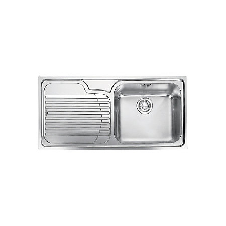 ... Bowl Polished Stainless Steel Single Kitchen Sink Rooms DIY at B&Q