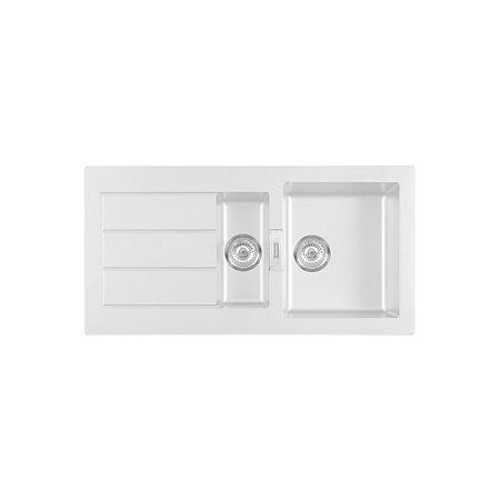 Franke White Composite Sink : Franke Sirius 1.5 Bowl White Composite 1.5 Kitchen Sink Departments ...