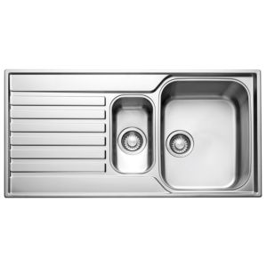 Franke Ascona 1.5 Bowl Polished Stainless Steel Sink & Drainer