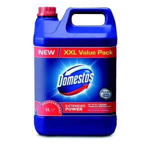 Image of Domestos Washroom surfaces & toilets unscented Bleach 5L