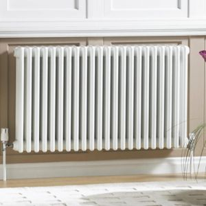 Acova 3 Column Radiator  White (W)628mm (H)600mm