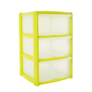 View B&Q Green Plastic 3 Drawer Tower Unit details