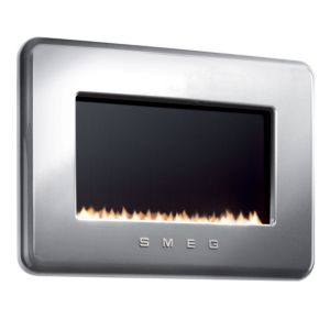 View Smeg Retro Wall Hung Gas Fire Black Glass Front details
