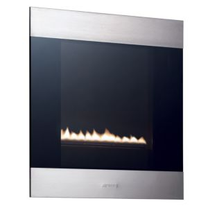View Smeg Classic Wall Hung Gas Fire Stainless Steel & Glass Front details