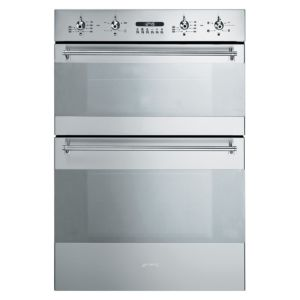View Smeg DOSC34X Silver Electric Double Oven details