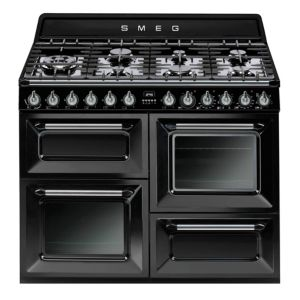 View Smeg Internal Dual Fuel Range Cooker, Black Glass & Stainless Steel details