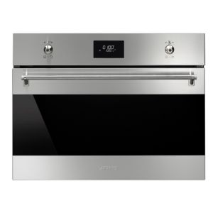 Smeg 1.500kW Built In Compact Microwave Oven with Grill