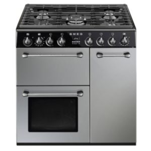 Smeg Kitchen Dual Fuel Cooker with Gas Hob  BM93S