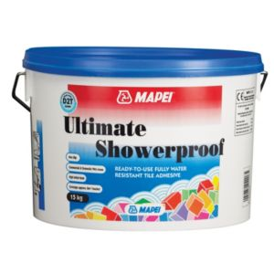 View Mapei Ultimate Shower Proof Ready Mixed Wall Tile Adhesive 15kg details