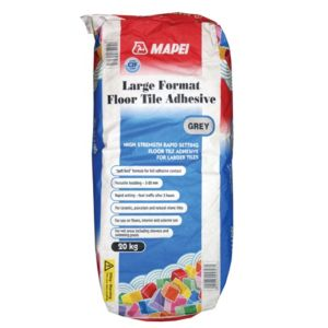 View Mapei Large Format Powder Floor Tile Adhesive Grey 20kg details