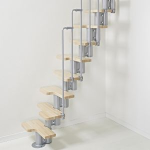 View Fontanot Space Saver Staircase (H)2420mm (L)600mm (W)1130mm details