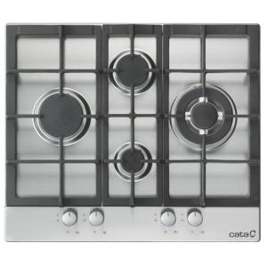 View Cata 4 Burner Cast Iron & Stainless Steel Gas Hob details