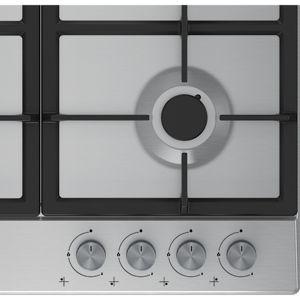 Beko HQAW 64225 SB 4 Burner Black Stainless steel Gas Hob (W)670mm