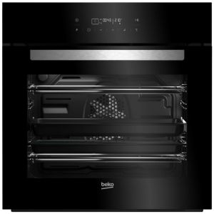 Image of Beko BQM24400BPS Black Electric Pyrolytic single oven