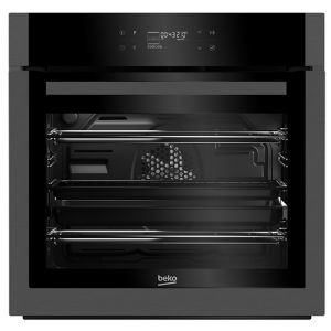 Beko BQM29500DXP Black Built-in Electric Single Multifunction Oven