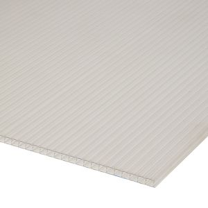 Image of Roof pro Clear Polycarbonate Multiwall Roofing sheet (L)2m (W)1000mm (T)16mm