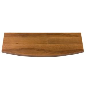View B&Q Twin Slot Walnut Effect Bowed Shelf Board (L)600mm (D)250mm details