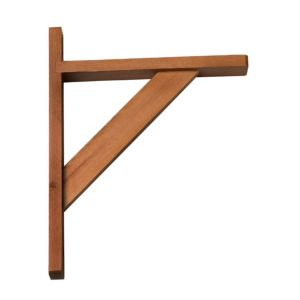 View Walnut Effect Timber Shelf Bracket (D)200mm details