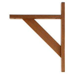 View B&Q Walnut Effect Shelf Brackets (D)250mm details