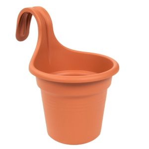 View Easy Hanger Plastic Terracotta Single Planter (H)25.7cm (Dia)26.2cm details