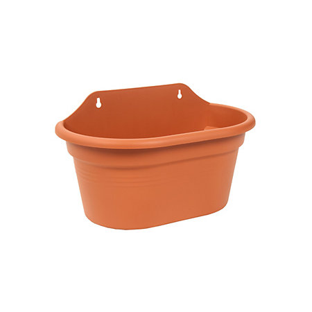Plastic Terracotta Wall Basket Duo Planter H 206mm L